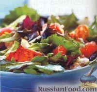 Салат с лососем и грейпфрутом
