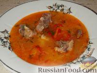 Суп из баранины с болгарским перцем
