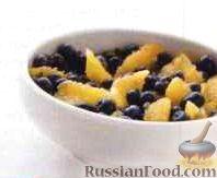 Салат из черники и апельсинов