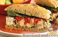 Сэндвичи из фокаччи с куриным салатом