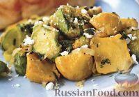 Жареные патиссоны с сыром