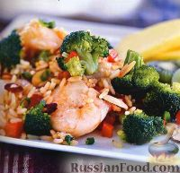 Рагу из риса, овощей и креветок